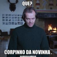 QUE?  CORPINHO DA NOVINHA .
