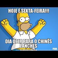 HOJE É SEXTA-FEIRA!!!DIA DE IR PARA O CHINÊS LANCHES