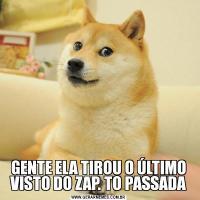 GENTE ELA TIROU O ÚLTIMO VISTO DO ZAP. TO PASSADA