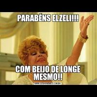 PARABÉNS ELZELI!!!COM BEIJO DE LONGE MESMO!!