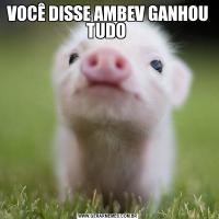 VOCÊ DISSE AMBEV GANHOU TUDO