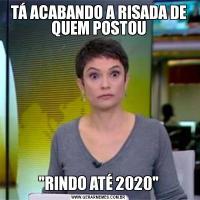 TÁ ACABANDO A RISADA DE QUEM POSTOU
