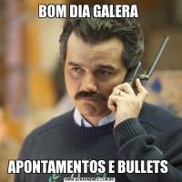 BOM DIA GALERA APONTAMENTOS E BULLETS