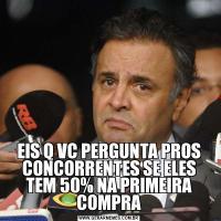 EIS Q VC PERGUNTA PROS CONCORRENTES SE ELES TEM 50% NA PRIMEIRA COMPRA