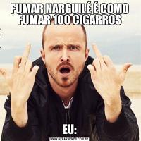FUMAR NARGUILÉ É COMO FUMAR 100 CIGARROSEU: