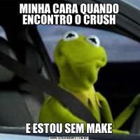 MINHA CARA QUANDO ENCONTRO O CRUSHE ESTOU SEM MAKE