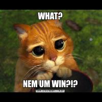 WHAT?NEM UM WIN?!?