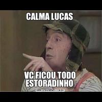 CALMA LUCAS VC FICOU TODO ESTORADINHO
