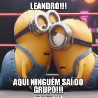 LEANDRO!!!AQUI NINGUÉM SAÍ DO GRUPO!!!