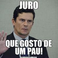 JUROQUE GOSTO DE UM PAU!