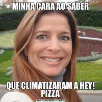 MINHA CARA AO SABERQUE CLIMATIZARAM A HEY! PIZZA