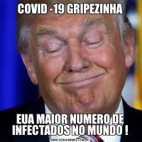COVID -19 GRIPEZINHAEUA MAIOR NUMERO DE INFECTADOS NO MUNDO !