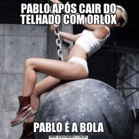 PABLO APÓS CAIR DO TELHADO COM ORLOXPABLO É A BOLA