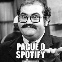 PAGUE O SPOTIFY