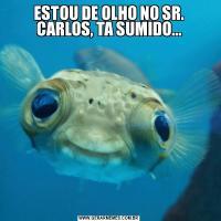 ESTOU DE OLHO NO SR. CARLOS, TA SUMIDO...