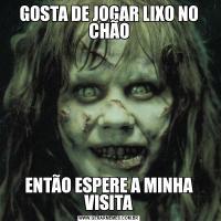 GOSTA DE JOGAR LIXO NO CHÃOENTÃO ESPERE A MINHA VISITA