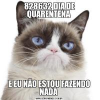828632 DIA DE QUARENTENA E EU NÃO ESTOU FAZENDO NADA
