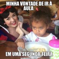 MINHA VONTADE DE IR À AULA EM UMA SEGUNDA-FEIRA