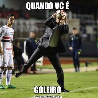 QUANDO VC É GOLEIRO