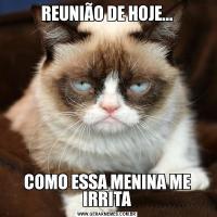 REUNIÃO DE HOJE...COMO ESSA MENINA ME IRRITA