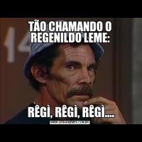 TÃO CHAMANDO O REGENILDO LEME: RÊGÌ, RÊGÌ, RÊGÌ....