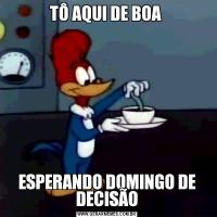 TÔ AQUI DE BOA ESPERANDO DOMINGO DE DECISÃO