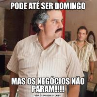 PODE ATÉ SER DOMINGOMAS OS NEGÓCIOS NÃO PARAM!!!!