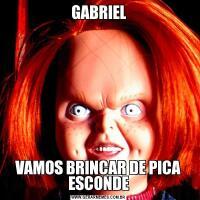 GABRIELVAMOS BRINCAR DE PICA ESCONDE