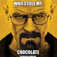 WHO STOLE MYCHOCOLATE