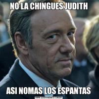 NO LA CHINGUES JUDITHASI NOMAS LOS ESPANTAS