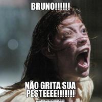 BRUNO!!!!!!NÃO GRITA SUA PESTEEEE!!!!!!!