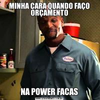 MINHA CARA QUANDO FAÇO ORÇAMENTONA POWER FACAS