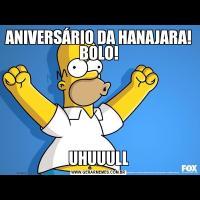 ANIVERSÁRIO DA HANAJARA! BOLO!UHUUULL
