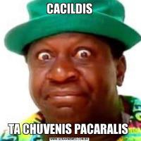 CACILDISTA CHUVENIS PACARALIS