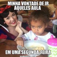 MINHA VONTADE DE IR ÀQUELES AULA EM UMA SEGUNDA-FEIRA