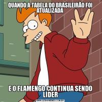 QUANDO A TABELA DO BRASILEIRÃO FOI ATUALIZADAE O FLAMENGO CONTINUA SENDO LÍDER