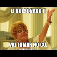 EI BOLSONARO !!VAI TOMAR NO CÚ.