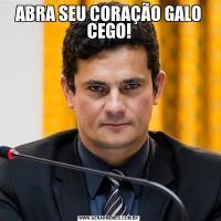 ABRA SEU CORAÇÃO GALO CEGO!
