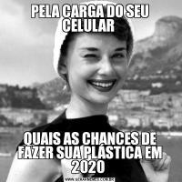 PELA CARGA DO SEU CELULAR QUAIS AS CHANCES DE FAZER SUA PLÁSTICA EM 2020