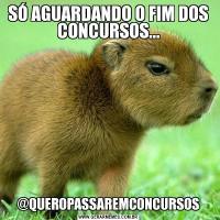 SÓ AGUARDANDO O FIM DOS CONCURSOS...@QUEROPASSAREMCONCURSOS