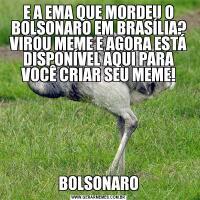 E A EMA QUE MORDEU O BOLSONARO EM BRASÍLIA? VIROU MEME E AGORA ESTÁ DISPONÍVEL AQUI PARA VOCÊ CRIAR SEU MEME!BOLSONARO