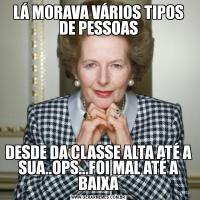 LÁ MORAVA VÁRIOS TIPOS DE PESSOASDESDE DA CLASSE ALTA ATÉ A SUA..OPS...FOI MAL ATÉ A BAIXA