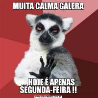 MUITA CALMA GALERA... HOJE É APENAS SEGUNDA-FEIRA !!