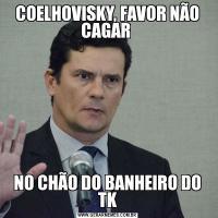 COELHOVISKY, FAVOR NÃO CAGAR NO CHÃO DO BANHEIRO DO TK
