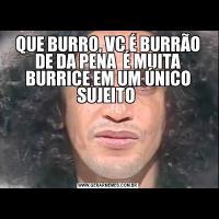 QUE BURRO, VC É BURRÃO DE DA PENA  É MUITA BURRICE EM UM ÚNICO SUJEITO