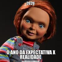 2020 O ANO DA EXPECTATIVA X REALIDADE
