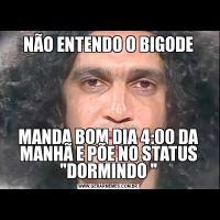 NÃO ENTENDO O BIGODEMANDA BOM DIA 4:00 DA MANHÃ E PÕE NO STATUS
