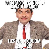 NAPOLEAO CHEGANDO NO CAVALO BRANCOELES VENDO QUE ERA MARROM