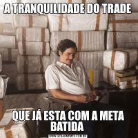 A TRANQUILIDADE DO TRADEQUE JÁ ESTA COM A META BATIDA