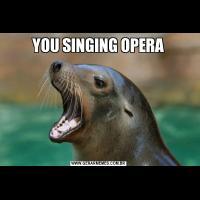 YOU SINGING OPERA